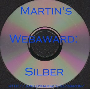 Martin's Webaward in Silber